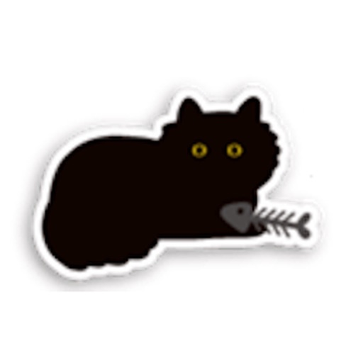Little Black Cat Sticker