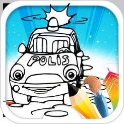 Police Arabası Boyama Oyunu App Storeda
