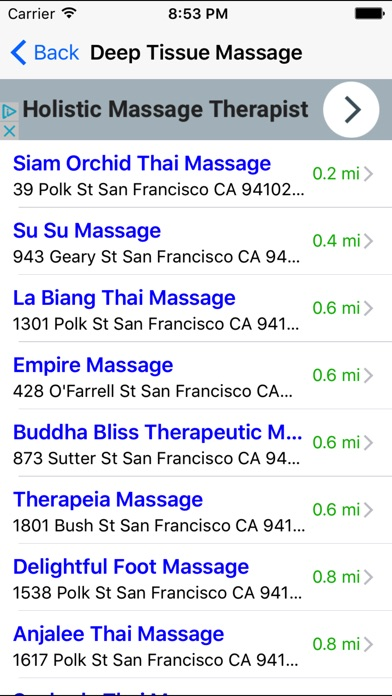Massage finder login