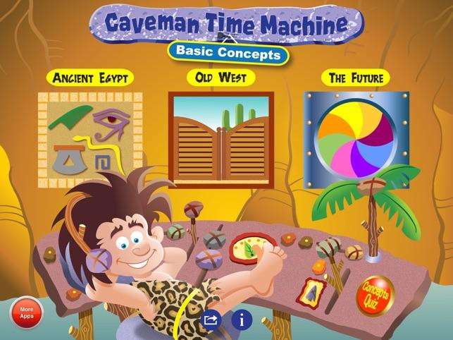 Caveman App Store : Caveman time machine basic concepts on the app store