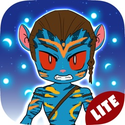 Blue Anime Cartoon Stickers for iMessage