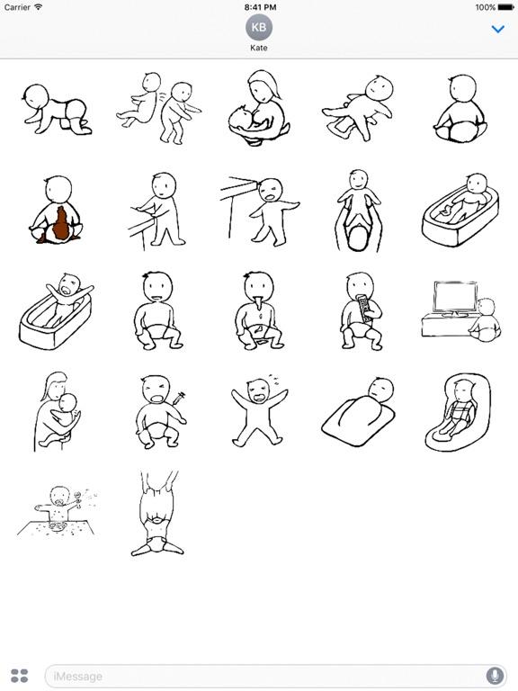Parenting Baby Stickers-ipad-0
