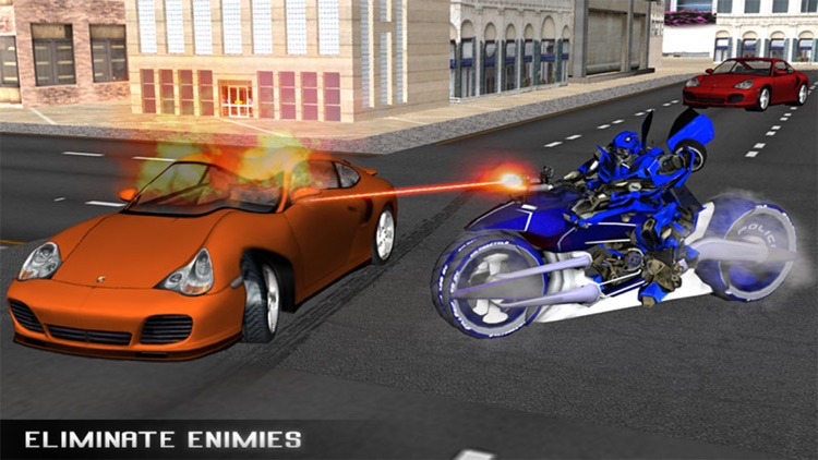 Monster Police Robot Moto Car Chase screenshot-4