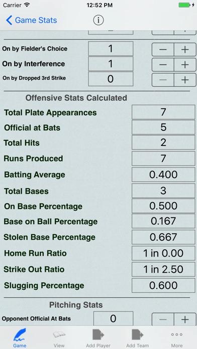 Baseball Player Stats Tracker For Game Statistics review screenshots