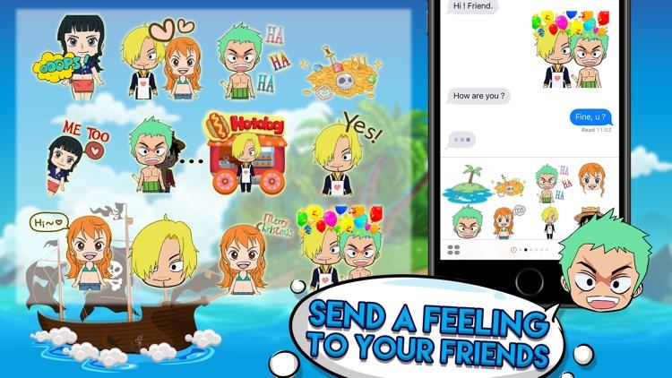 Pirates Manga Cartoon Stickers Keyboard Themes
