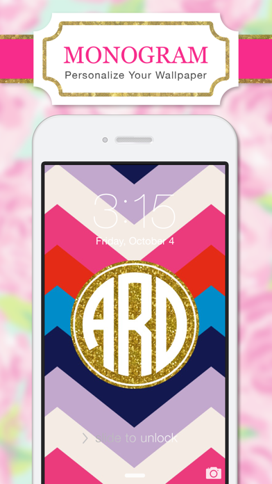 Monogram is the easiest way to design pretty, custom wallpaper for your iPhone and iPad. Select a background inspired by the latest fashion and home styles.