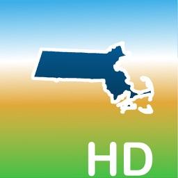 Aqua Map Massachusetts MA Lakes HD- Nautical Chart