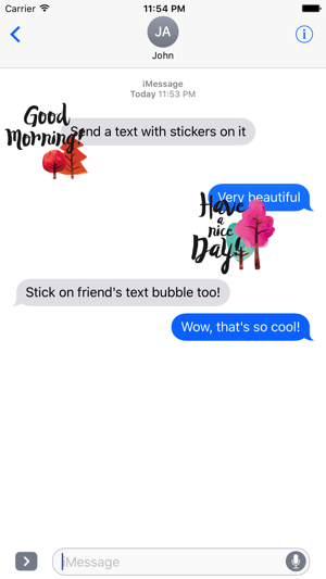‎Animated Everyday Greetings Stickers Screenshot
