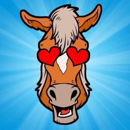 Horse Emoji - Cute Horse Stickers