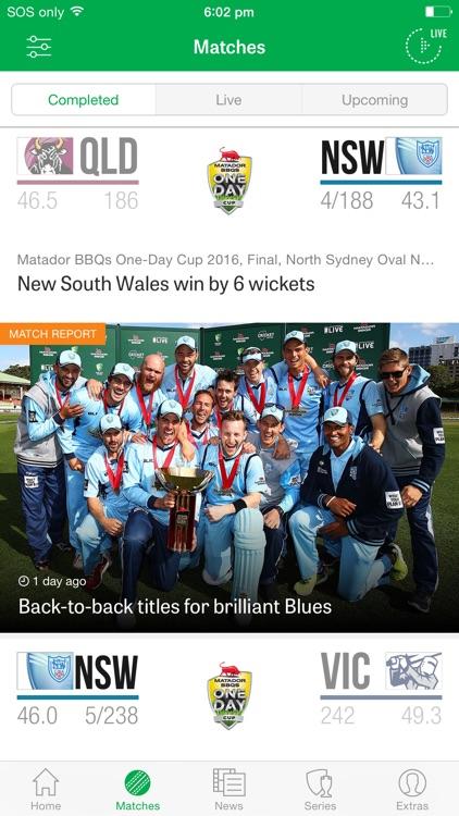 Cricket Australia Live: The Official App