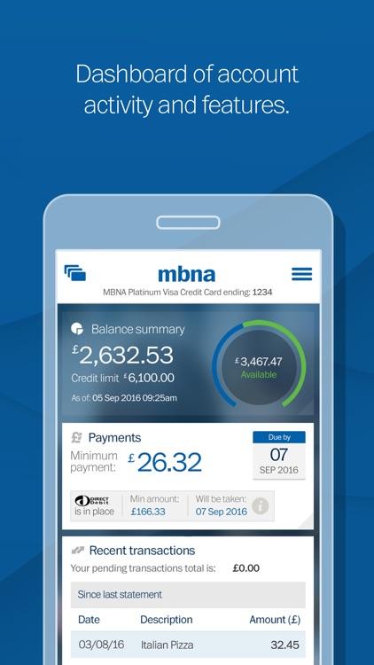 MBNA screenshot-0