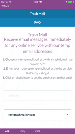 trash mail create temp email addresses on the app store