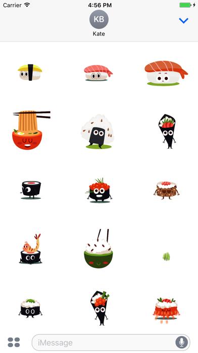 Animated Sushi Stickers