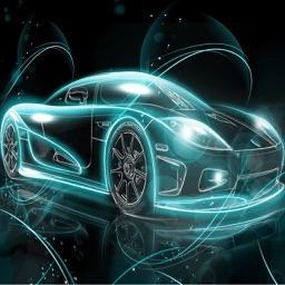 Neon Car Race