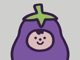 Gifted with legs at birth, Eggby the Eggplant tries to make the most out of every situation, while leaving some time on the side to have fun