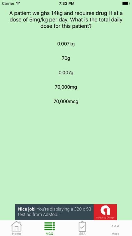 Pharmaceutical Calculations Quiz