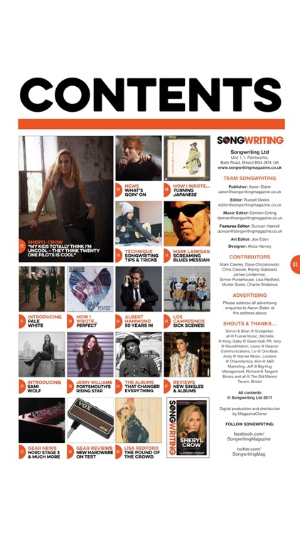 Songwriting Magazine - at the heart of great music