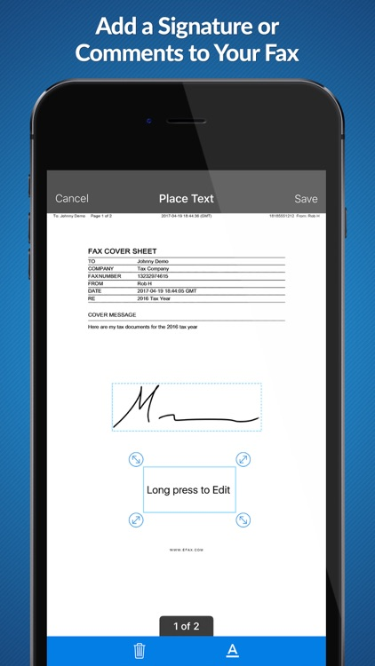eFax – receive and send fax for iPhone or iPad