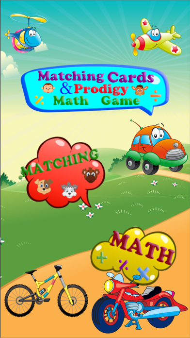 Matching cards & Prodigy Math Game screenshot one