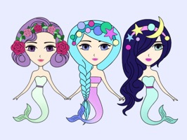 Funny Mermaids Stickers