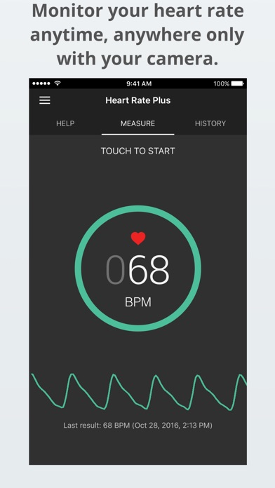 Screenshot for Heart Rate Plus - Heart Rate Monitor & Tracker PRO in New Zealand App Store
