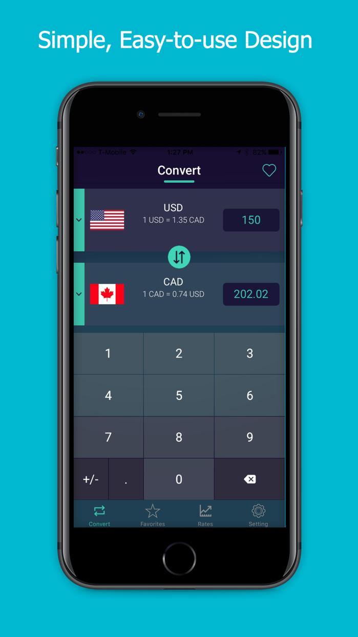 World Currency Converter: 150+ Exchange Rates Screenshot