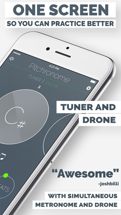 Pitchronome - Tuner + Metronome screenshot-1