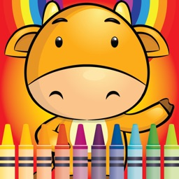 Coloring Cute Animal Farm fun doodling book