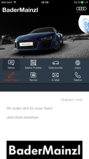 screenshots - Audi Bewerben