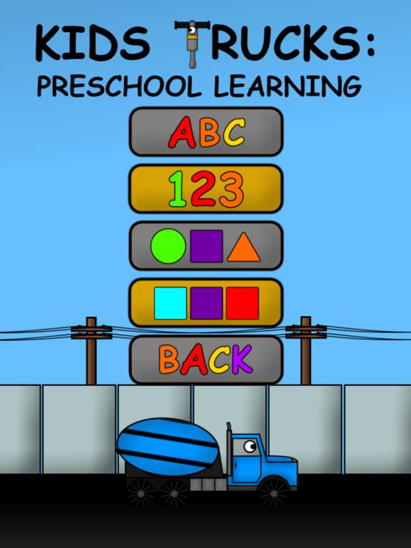 Kids Trucks: Preschool Learning Education Edition на iPad