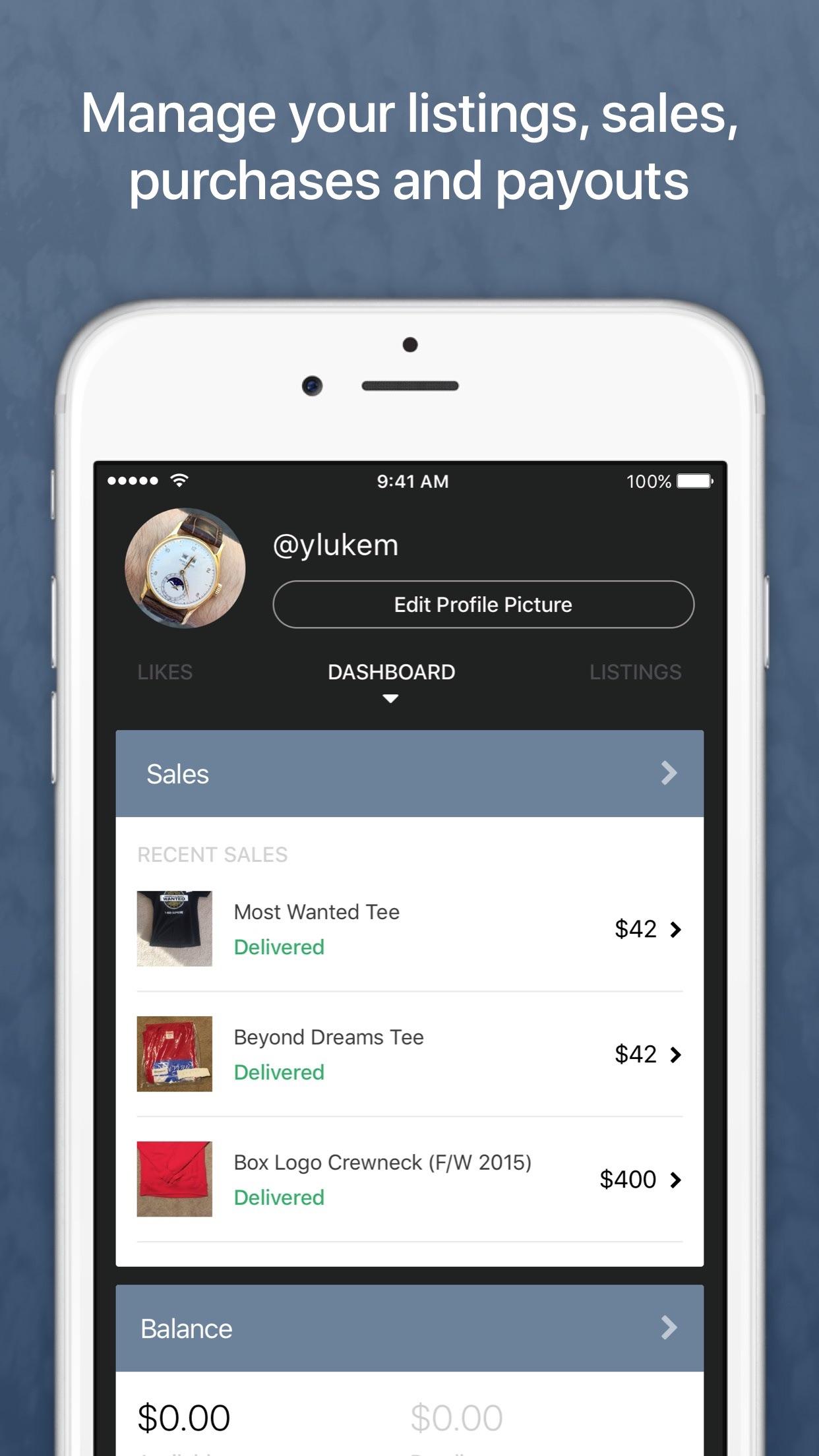 Restocks Screenshot
