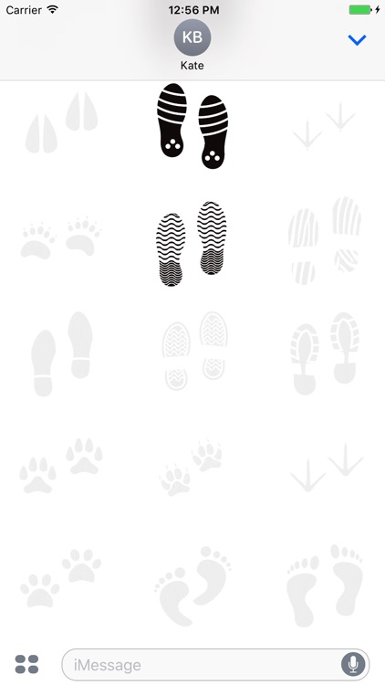 Animated Cute Footprint Stickers screenshot-3