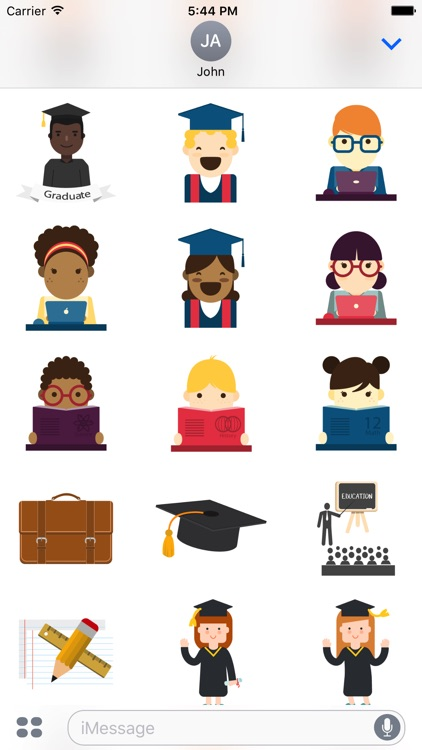 Graduation Stickers for iMessage