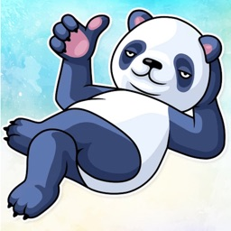 Lazy Panda! Stickers