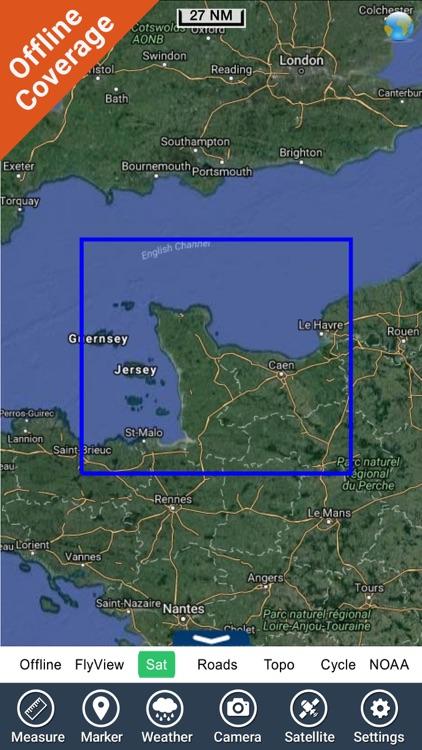 Marine: Basse Normandie HD - GPS Map Navigator screenshot-4