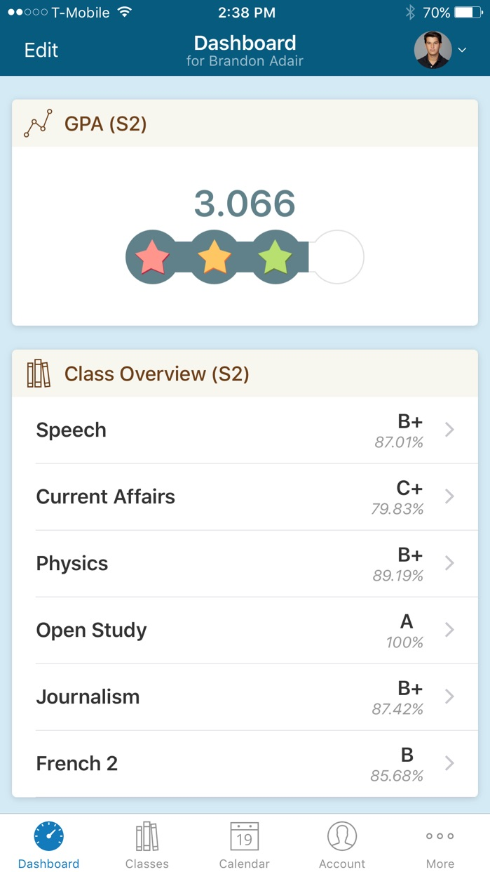 PowerSchool Mobile Screenshot