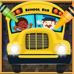 Car Vocab & Paint Game - The artstudio for kids