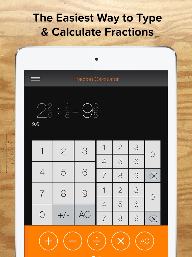 Fraction Calculator + Decimals i App Store