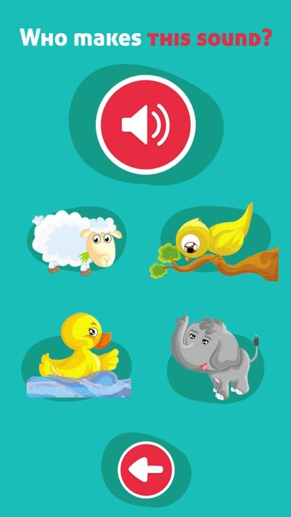Cute Animals - Learn Animal Sounds, Noises & Names screenshot-4