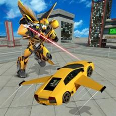 Activities of Future Flying Super Car: Robot Fighter Stunts 3D