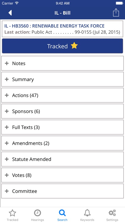 TrackBill: Congress & State Government Legislation screenshot-2