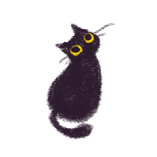 Soft Black Cat Catmoji Sticker