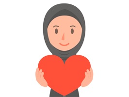 Muslimoji woman is a unique stickers Oriental girls