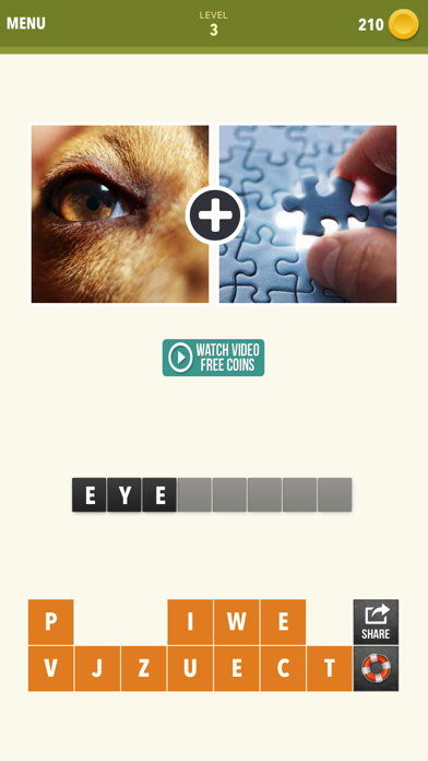Pic Combo - 2 Pics Guess What's the Word Puzzle screenshot two