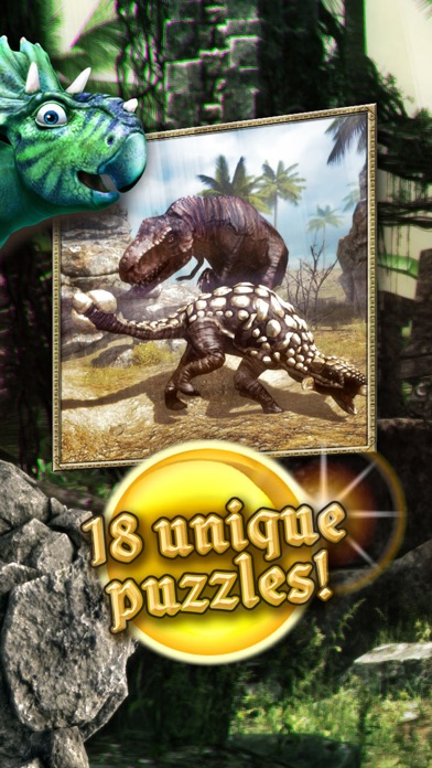Dinosaurs walking with fun 3D puzzle game kids XL screenshot one