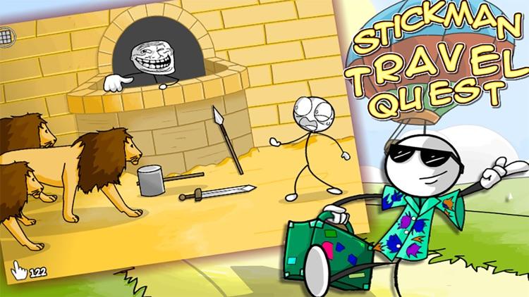 Stickman Travel Quest - Puzzle Adventure Game