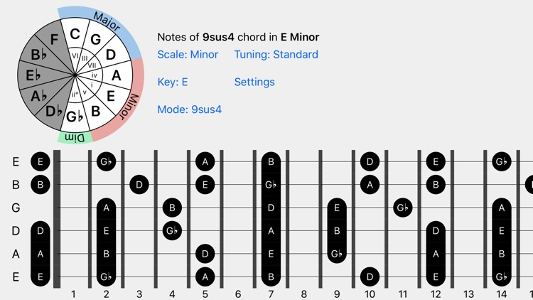 FretBud - Chord & Scales for Guitar, Bass and More screenshot-3