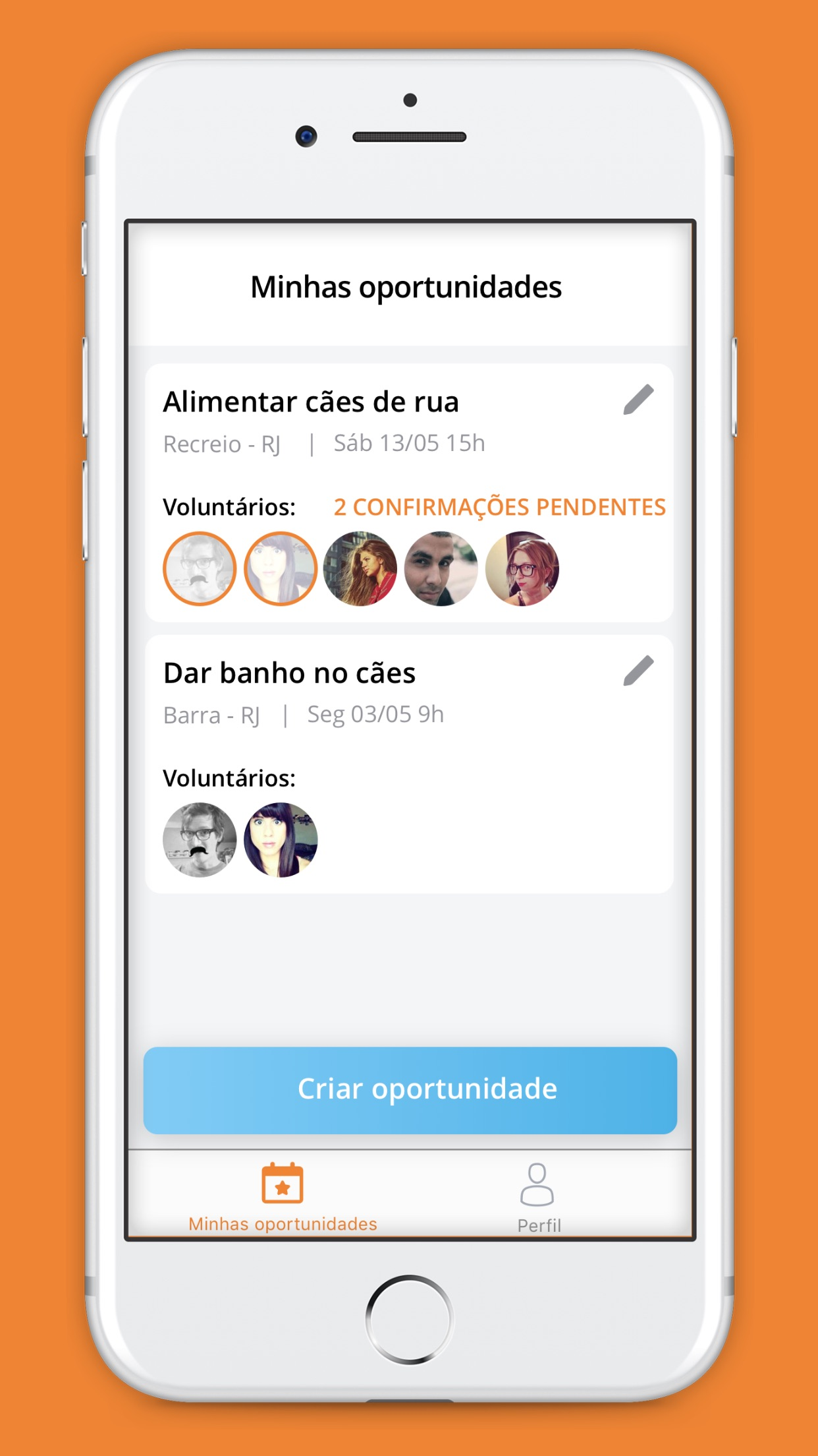Screenshot do app colaBora