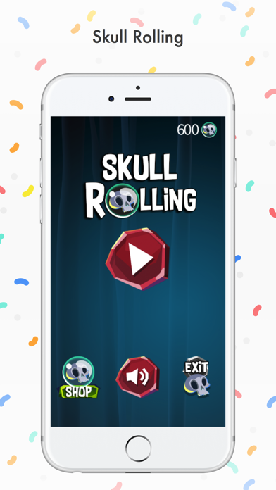 Skull Rolling screenshot one