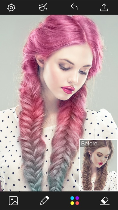 Hair Color Changer - Styles Salon & Recolor Booth - App ...